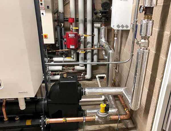 Commercial Gas Boiler Room